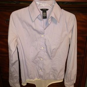 Body by Victoria sz Sm 1 piece button down shirt
